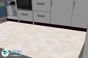 1 انتخاب رنگ مناسب کفپوش آشپزخانه