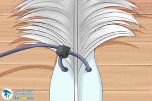 3 طرز ساخت بادبزن با پر