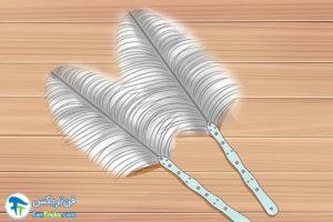 5 طرز ساخت بادبزن با پر