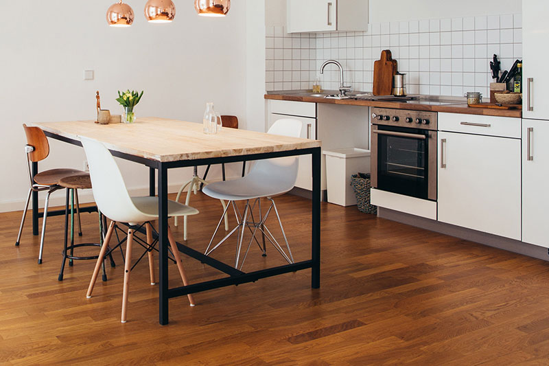 8 انتخاب رنگ مناسب کفپوش آشپزخانه