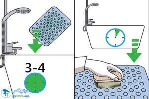 2 شستشو و تمیز کردن پادری پلاستیکی