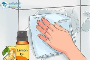 3 از بین بردن لکه صابون از روی کاشی حمام