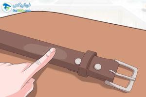 3 نرم کردن کمربند چرم سفت و خشک