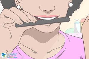 1 از بین بردن تیزی دندان شکسته