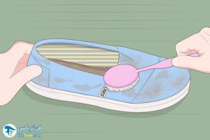 1 روش شستن کفش کالج پارچه ای