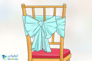1 آموزش تزئین صندلی با پارچه و تور