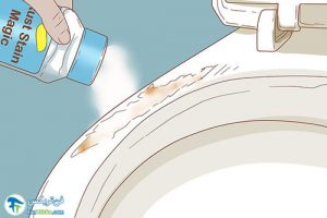 2 رفع خراشیدگی اجسام فلزی از سنگ توالت
