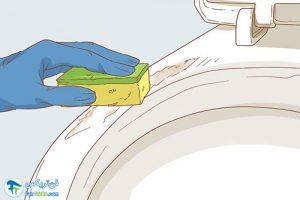 3 رفع خراشیدگی اجسام فلزی از سنگ توالت