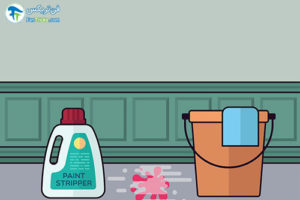 1 پاک کردن رنگ از سطوح بتنی