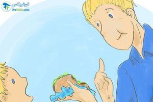 1 آموزش صحیح غذا خوردن به کودک