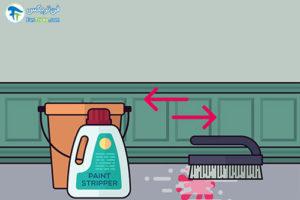 2 پاک کردن رنگ از سطوح بتنی