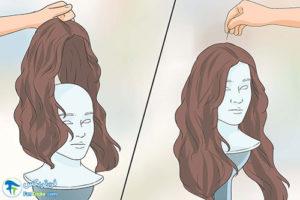 2 آموزش صاف کردن موهای کلاه گیس