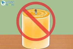 2 رفع مشکل سوختن شمع بصورت نامتقارن
