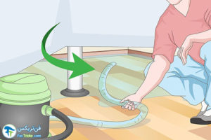 3 خشک کردن آب نفوذ کرده زیر کفپوش چوبی