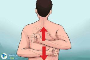 3 چرب کردن پشت بدن با لوسیون توسط خودمان