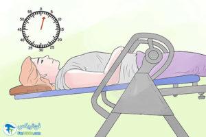 4 استفاده از تخت وارونه درمانی