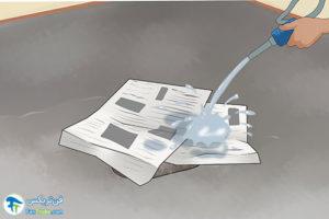 5 تمیزکردن لکه ضدیخ ماشین از زمین