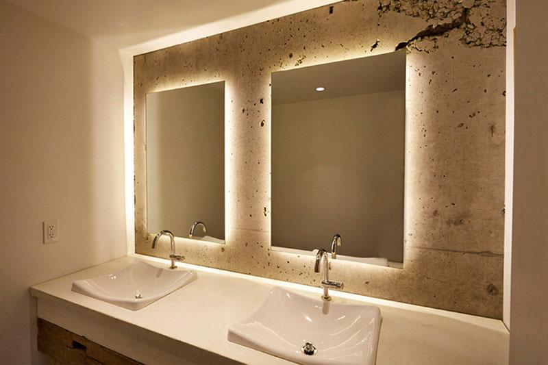 10 طرز نورپردازی پس زمینه آینه