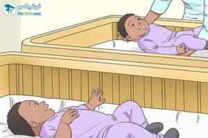 3 آموزش خوابیدن به کودکان دوقلو