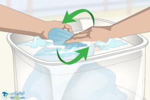 3 شستن و تمیز کردن پارچه میکروفایبری