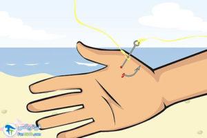 4 خارج کردن قلاب ماهیگیری از انگشت دست