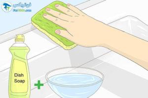 4 اصول شستن و تمیز کردن وسایل آکریلیک