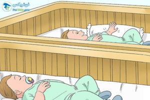 4 خواب به موقع در بچه های دو قلو