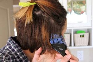 6 رنگ کردن موی کوتاه به روش آمبره