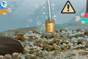 6 نحوه شستن حباب ساز آکواریوم