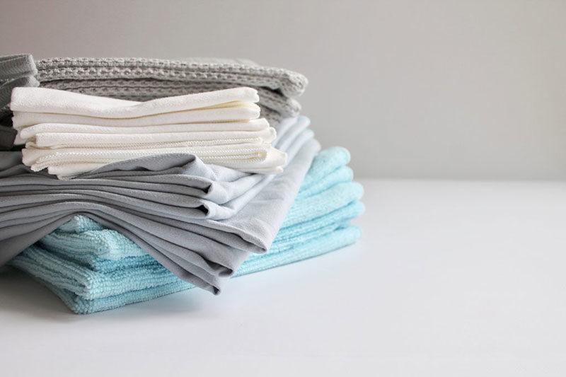6 شستن و تمیز کردن پارچه میکروفایبری