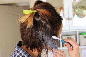 8 رنگ کردن موی کوتاه به روش آمبره
