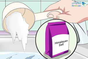 1 حمام کردن با نمک هیمالیا