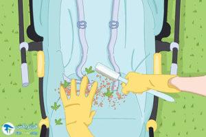 1 چگونه کالسکه بچه را شسته و تمیز کنیم