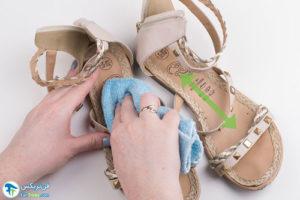 1 اصول تمیز کردن کفش تخت کالج
