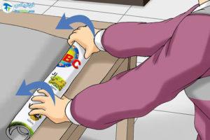 1 طرز صاف کردن کاغذ رول شده