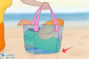 1 از بین بردن شن چسبیده به بدن در ساحل