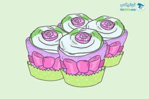13 تزئین پوشاک کودک به شکل کاپ کیک