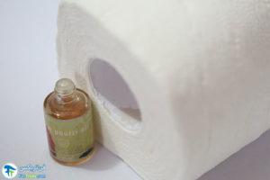 2 ساخت بوگیر دستشویی با دستمال رولی