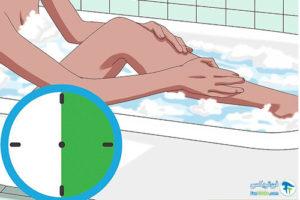 2 حمام کردن با نمک هیمالیا
