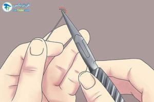 2 طرز ساخت پیرسینگ لب در منزل