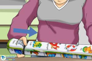 2 طرز صاف کردن کاغذ رول شده