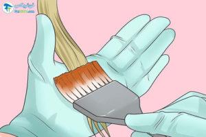 2 روش خانگی رنگ کردن موهای دکلره