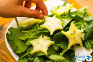 3 نحوه خوردن میوه ستاره ای یا اختری