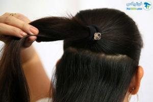 3 فر کردن مو با نوار کاغذی