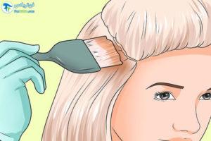 3 رنگ کردن موهای دکلره