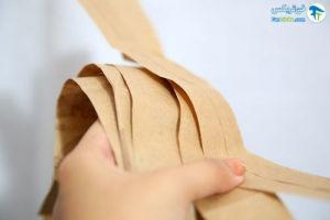 4 فر کردن مو با نوار کاغذی