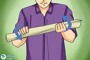 4 طرز صاف کردن کاغذ رول شده