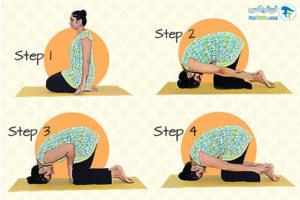 4 حرکات یوگا برای افزایش رشد مو