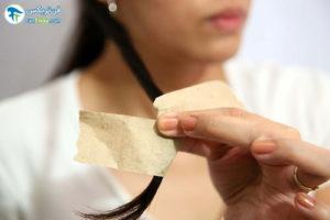 5 فر کردن مو با نوار کاغذی