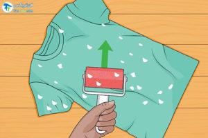 5 جدا کردن دستمالکاغذی چسبیده به لباسهای شسته